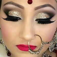 4 strong glittery bold bridal eye makeup look