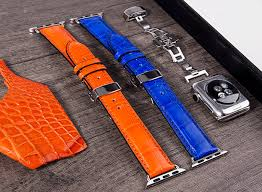 genuine alligator crocodile leather apple watch bands straps