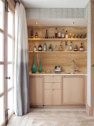 wet bar lighting. inspiration for a contemporary singlewall light wood floor and beige wet bar remodel lighting s