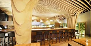 banq office da. Wonderful Modern Restaurant With Wooden Decoration Housebeau Banq Office Da T