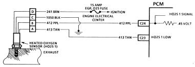 wiring diagram heated oxygen sensor exhaust ford o2 wiring
