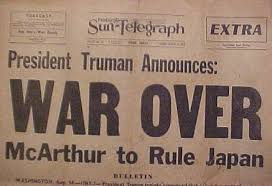 Image result for when word of the Japanese surrender was announced on August 14, 1945,