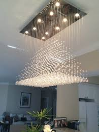 it modern glass crystal dining chandelier