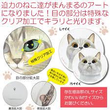 糸井忠晴 木製ラウンドアートlサイズ見つめる愛で猫ねこ