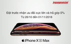 QC] Ưu đãi lên đến 4 triệu đồng khi đặt trước iPhone XS, XS Max chính hãng  tại Nguyễn Kim