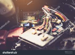 selective focusreplacing fuses fuse box car stock photo 660089959 gm fuse box disassembly at How To Replace Fuse Box In Car