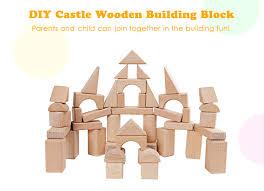 mumama wooden grain bulk castle building blocks child intelligent toy