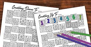 Calendar Countdown Days Printable Countdown Calendar And Progress Tracker Color In Moms