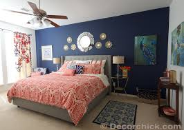 Blue And Coral Bedroom Ideas