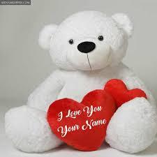 write name love beautiful teddy bear