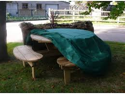 image of round picnic table covers
