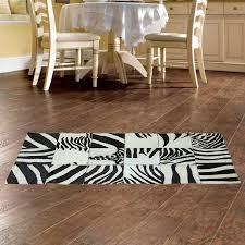 zebra patchwork rug black and white