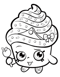 Simple Ideas Coloring Pages Cupcakes Unicorn On Cupcake Page Free