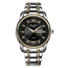 <b>wlisth</b> business luminous men full <b>steel belt</b> quartz watch at ...