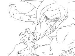 Small Picture Goku Ssj4 Coloring Page Free Download