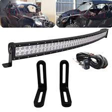 Maverick X3 Light Bar Wiring Amazon Com Dasen 40 Inch 240w Curved Led Light Bar W Upper
