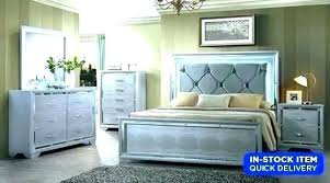 Bed With Mirror Headboard King Bedroom Set Beds Sets Silver ...