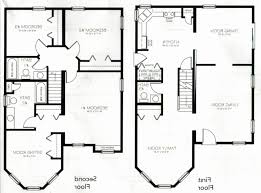 4 bedroom 2 story house plans canada best of 1 2 story house floor plans luxury