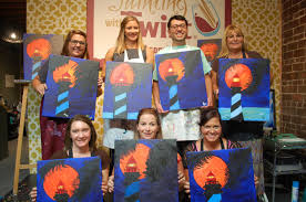 get in touch with your creative side and plan a trip to painting with a twist from your first stroke on the canvas to walking out the door they have you