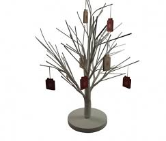 Pre Lit Christmas Twig Tree Decoration Snowy White Light Up Led with Decorative  Twig Tree