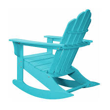 hanover 3 piece adirondack rocking chair set with 2 adirondack chairs and 18 round side