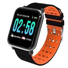 Фитнес-браслет <b>ZDK A6</b>, оранжевый — купить в интернет ...