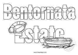 Bentornata Estate Scritta Da Colorare Tuttodisegnicom