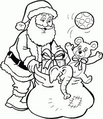 Kleurplaat Kerstman Met Rendier Kleurplatennl Kerst Kleurplaten