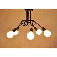 5 pendant ceiling light heads modern lamp hanging chandelier lighting fixture reya nickel effect