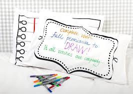 Design Your Own Pillowcase Enchanting DIY Pillowcase Doodle Pillowcase