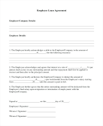 Company Loan To Employee Agreement Agreement Template Word Beautiful Confidentiality Sample
