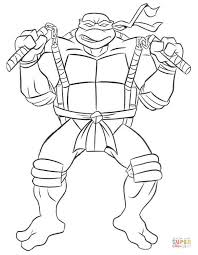 pictures of ninja turtles colouring pages