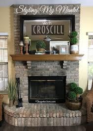 fireplace mantel decorating ideas finished
