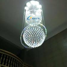 crystal globe pendant light 7 bulbs led modern lights hanging lamp for veranda hall gallery porch exhibition in from glob