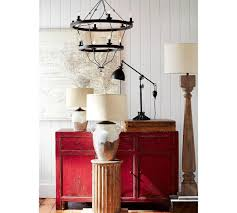 Finn Turned Wood Floor Lamp Pottery Barn Ca