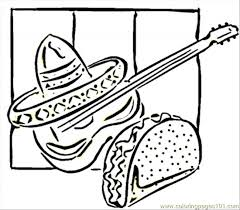 Small Picture Tacos And Guitar Coloring Page Free Mexico Coloring Pages
