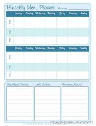 Bi Weekly Meal Planner Template Biweekly Menu Planning Form Free Downloadable Northwest Edible