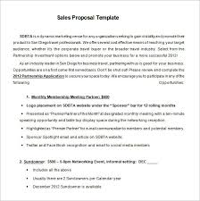 Advertising Proposal Template Adorable Sales Proposal Templates 48 Free Sample Example Format Download