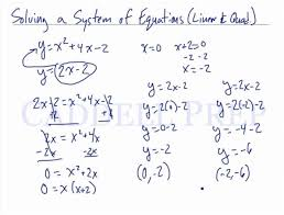 equations using substitution linear