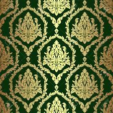 Golden Rich Floral Damask Wallpaper On ...