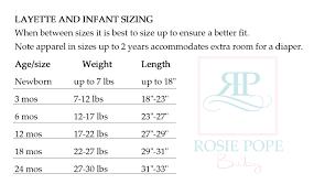 Rosie Pope Baby Size Chart Rosie Pope Maternityrosie Pope