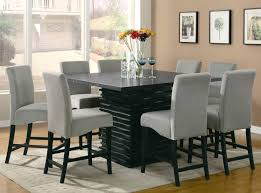 dining room black dining room table seats glass chairs round tables furniture set oak with modern