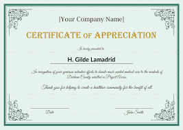 Employee Certificate Of Appreciation Company Employee Appreciation Certificate Template