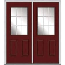 red double front doors. Brilliant Red 72 In X 80 White Internal Grilles RightHand Inswing 1 On Red Double Front Doors E
