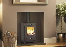 image of wood burning stove idea replacing fireplace
