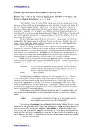 crucible essay twenty hueandi co the crucible higher english key scene essay