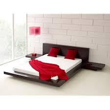 japanese bed frame. Matisse Fujian Modern Platform Bed + 2 Night Stands Queen (Espresso) Japanese Frame O