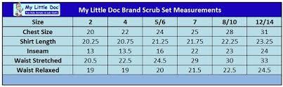 Scrub Color Chart Kids Scrubs And Lab Coats Size And Color Chart Kids Scrubs