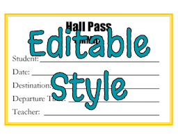 Freebie Hall Pass Template Editable By Trending Technology In