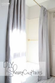 you can add back tabs to your shower curtains and hang both curtains back to back which i did or if you re done with sewing for